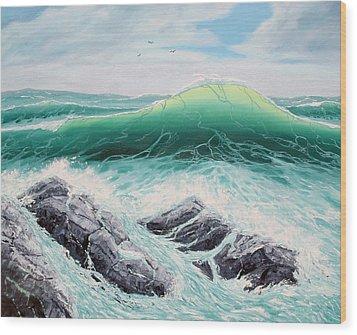 Majestic Sea Wood Print by Lorraine Foster