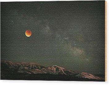 Majestic Sky Wood Print by Matt Helm