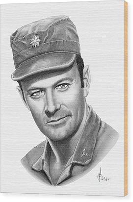 Major Frank Burns Wood Print by Murphy Elliott