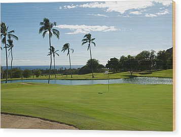 Makaha Golf Course Wood Print by Bill Bachmann - Printscapes