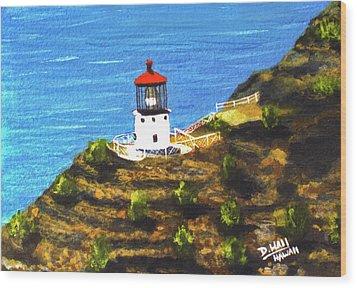 Makapuu Lighthouse #78, Wood Print by Donald k Hall