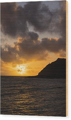 Makapuu Point Lighthouse Sunrise Wood Print by Brian Harig