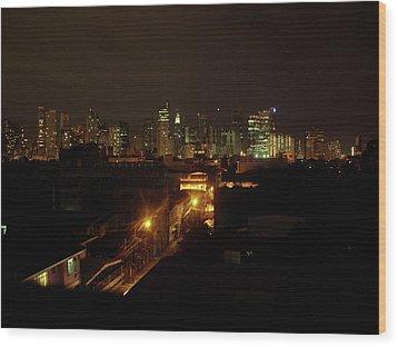 Makati Skycraper Wood Print by SAIGON De Manila