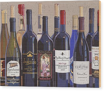 Make Mine Virginia Wine Number One Wood Print by Christopher Mize