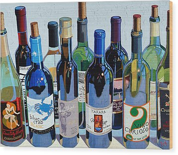 Make Mine Virginia Wine Number Three Wood Print by Christopher Mize