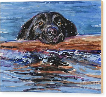 Wood Print featuring the painting Make Wake by Molly Poole