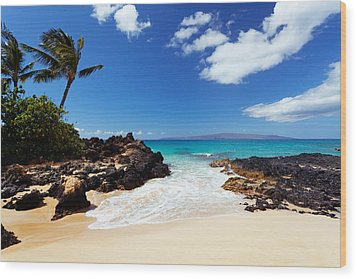 Makena Cove Wood Print