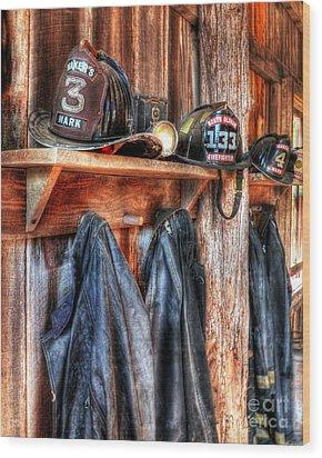 Maker's Mark Firehouse Wood Print