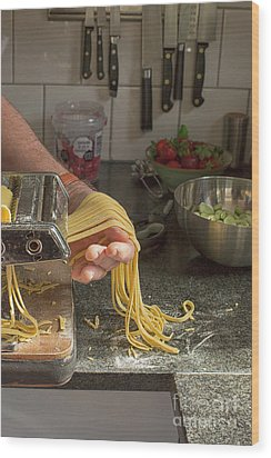 Wood Print featuring the photograph Making Pasta by Patricia Hofmeester