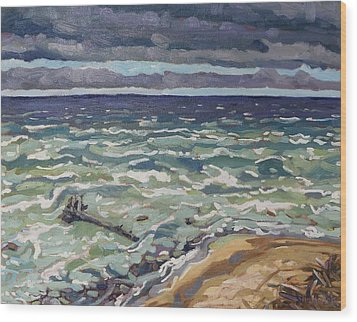 Making Waves In Oil Wood Print by Phil Chadwick