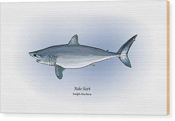 Mako Shark Wood Print by Ralph Martens
