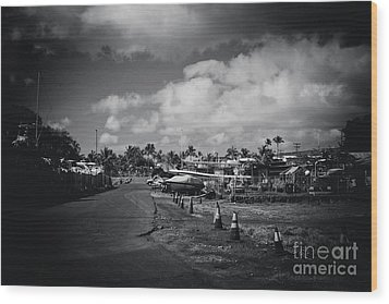 Wood Print featuring the photograph Mala Wharf Ala Moana Street Lahaina Maui Hawaii by Sharon Mau