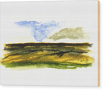 Malaga Washington Ridge Wood Print by Paul Gaj