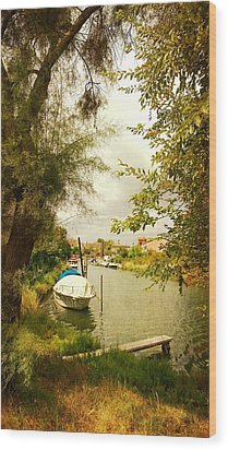 Wood Print featuring the photograph Malamocco Canal No1 by Anne Kotan