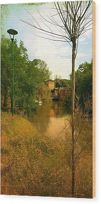 Wood Print featuring the photograph Malamocco Canal No2 by Anne Kotan