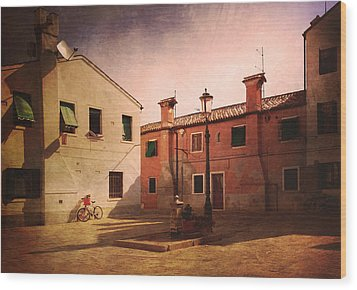 Wood Print featuring the photograph Malamocco Corner No2 by Anne Kotan