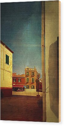 Malamocco Glimpse No1 Wood Print by Anne Kotan