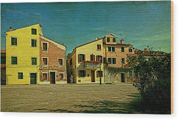 Wood Print featuring the photograph Malamocco Main Street No1 by Anne Kotan