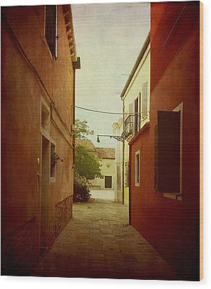 Wood Print featuring the photograph Malamocco Perspective No2 by Anne Kotan