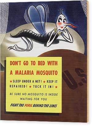 Malaria Mosquito Wood Print by War Is Hell Store