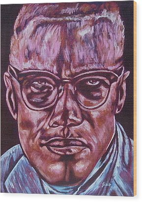 Malcolm Wood Print by Shahid Muqaddim