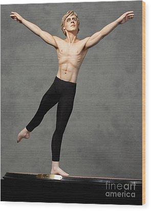 Male Dancer Wood Print by Vickie Arentz