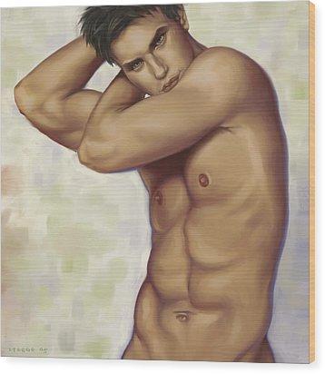 Male Nude 1 Wood Print