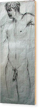 Male Nude 4798 Wood Print by Elizabeth Parashis