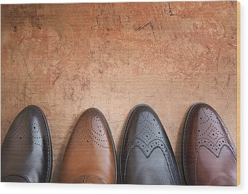 Wood Print featuring the photograph Male Shoes by Andrey  Godyaykin