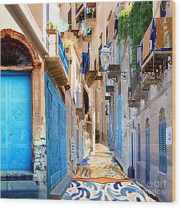 Malfa Color Wood Print by Ayesha DeLorenzo