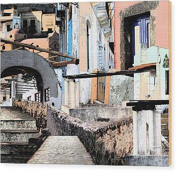 Malfa Elevations Wood Print by Ayesha DeLorenzo
