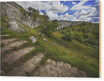 Wood Print featuring the photograph Malham Cove, Yorkshire, Uk by Richard Wiggins