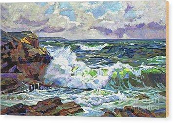Malibu Cove Wood Print by David Lloyd Glover