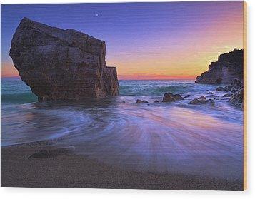 Malpasso Beach Wood Print