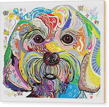 Maltese Puppy Wood Print by Eloise Schneider