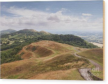 Wood Print featuring the photograph Malvern Hills by Colin and Linda McKie