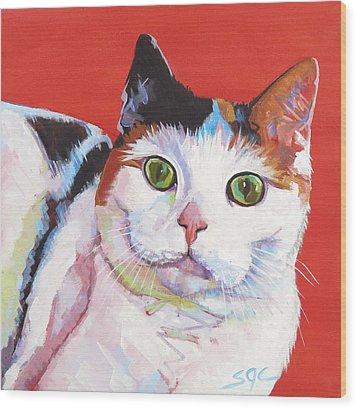 Mama Kitty Wood Print