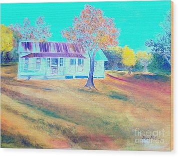 Mamas House In Arkansas Wood Print by Jo Anna McGinnis
