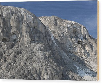 Wood Print featuring the photograph Mammoth Hot Springs by Robert Pearson