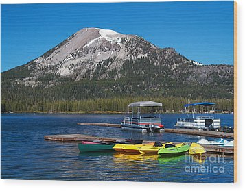 Mammoth Mountain California At Lake Mary Wood Print by ELITE IMAGE photography By Chad McDermott