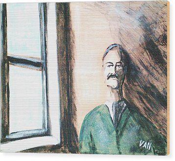 Man By The Window Wood Print