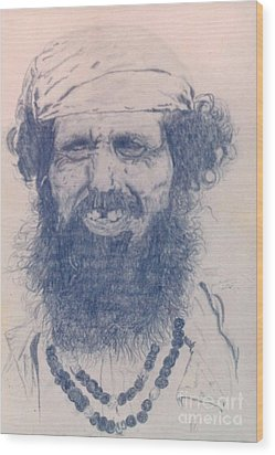 Man From Madigascar Wood Print by Ron Bissett