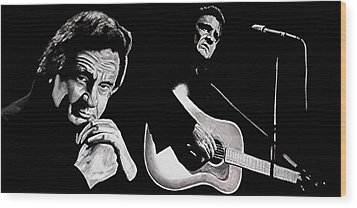 Man In Black Wood Print by Al  Molina