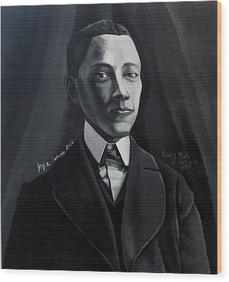 Man In Suit And Vest Out Of The Box Series Wood Print by Joyce Owens