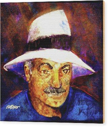Man In The Panama Hat Wood Print by Seth Weaver