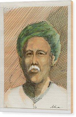 Man In Turban Wood Print