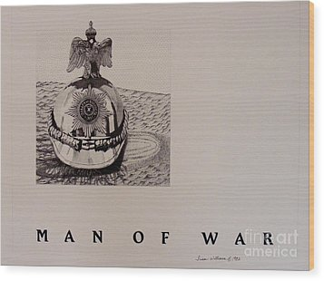 Man Of War Wood Print