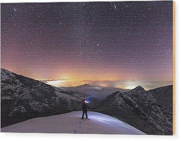 Man On Mars Wood Print by Evgeni Dinev
