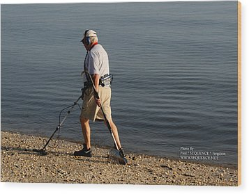Man On The Beach Wood Print