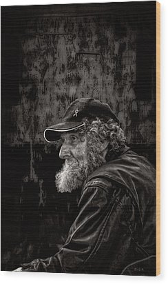 Man With A Beard Wood Print by Bob Orsillo